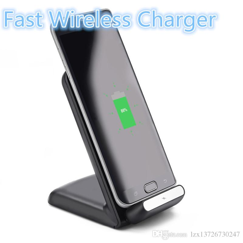 لشحن Samsung S8 Fast Charge Qi Wireless Charger Pad لشحن Samsung Galaxy S6 edge plus / Note5 / S7 / S8 edge