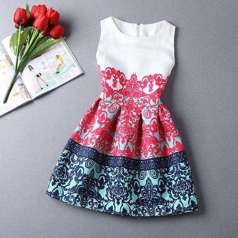 Sexy Red Floral Imprimer Femmes Robe De Style Summer Sans Manches Robes Sundresses Plus Taille Tunique Tunique Vestidos de Festa Robe 10341