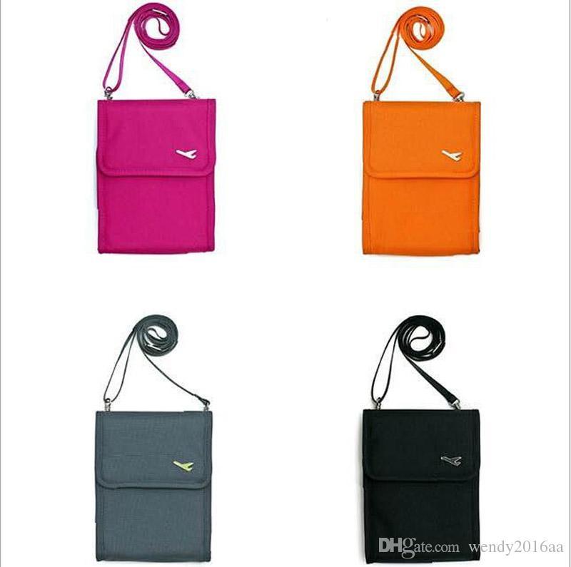 2pcs nuovo multi-funzione sacchi sacchi sport all'aria aperta 4 colori borsa a tracolla spallacci demin borsa della moneta carta creddit