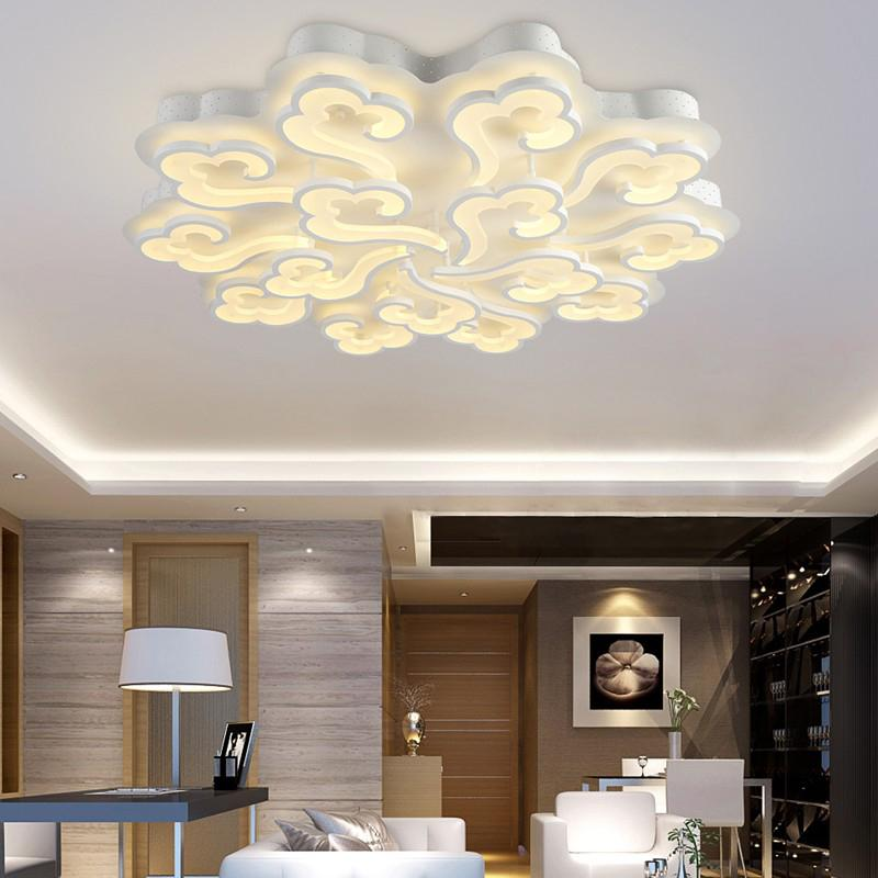 Lámpara De Lamparas Compre Dormitorio Decoración De Techo Iluminación Luces Estar De Moderno LED De Acrílico De Sala Techo LED Techo Para Techo De 43Lj5qAR