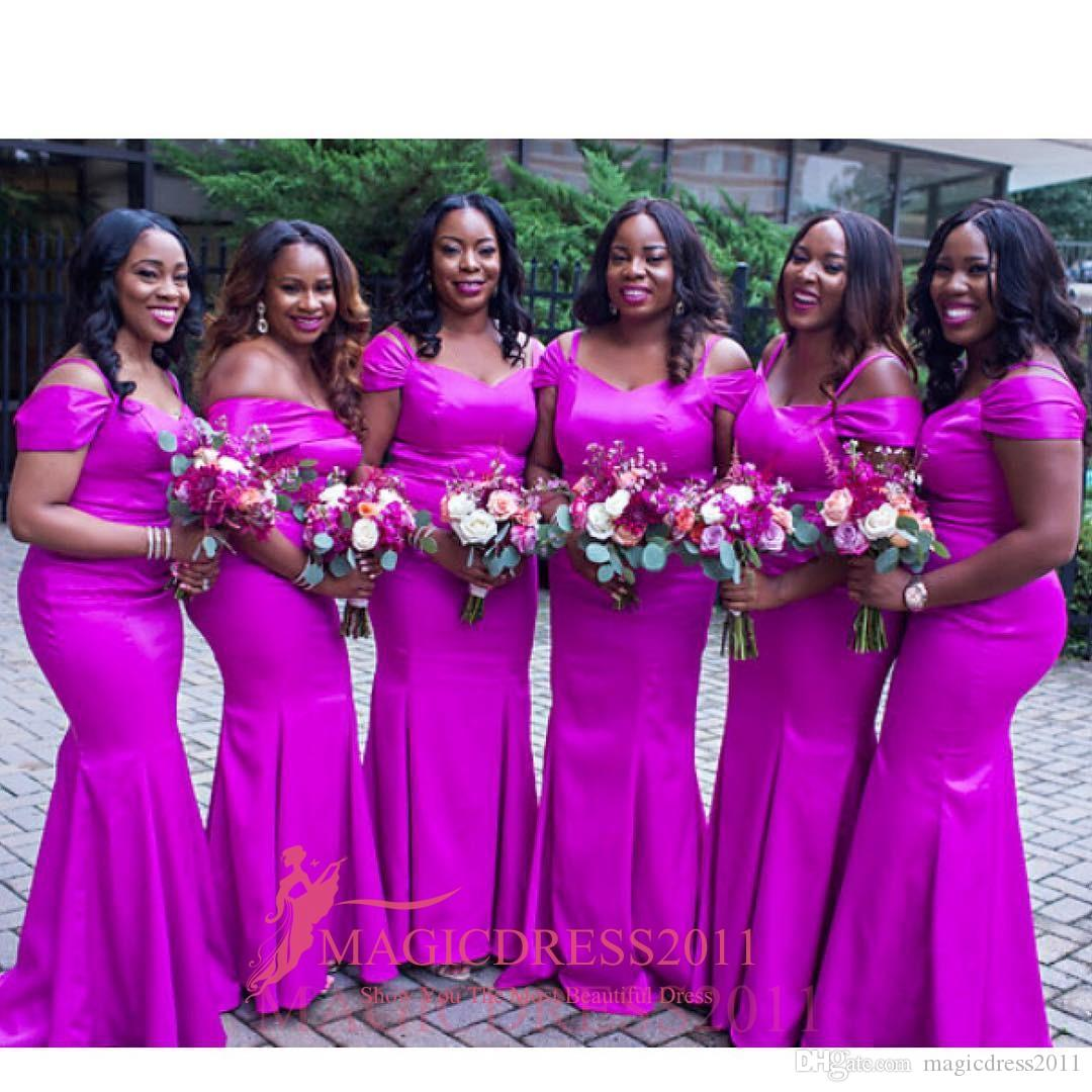 2016 Gorgeous Nigeria Brazil Bridesmaid Dresses Mermaid Off Shoulder ...