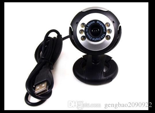 Toptan Satış - USB 6 LED 30.0 Mega Piksel Pc Webcam + Mikrofon