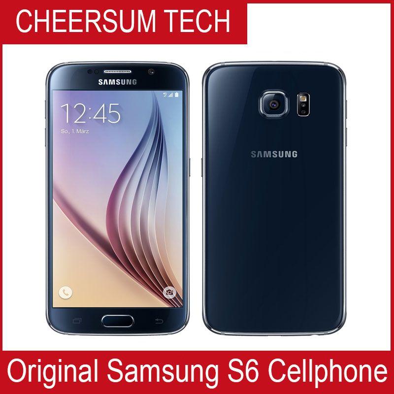 الأصلي سامسونج S6 G920A G920F G920P G920V LTE 4G الهاتف المحمول Octa Core 3GB RAM 32GB ROM 16MP 5.1 بوصة Android