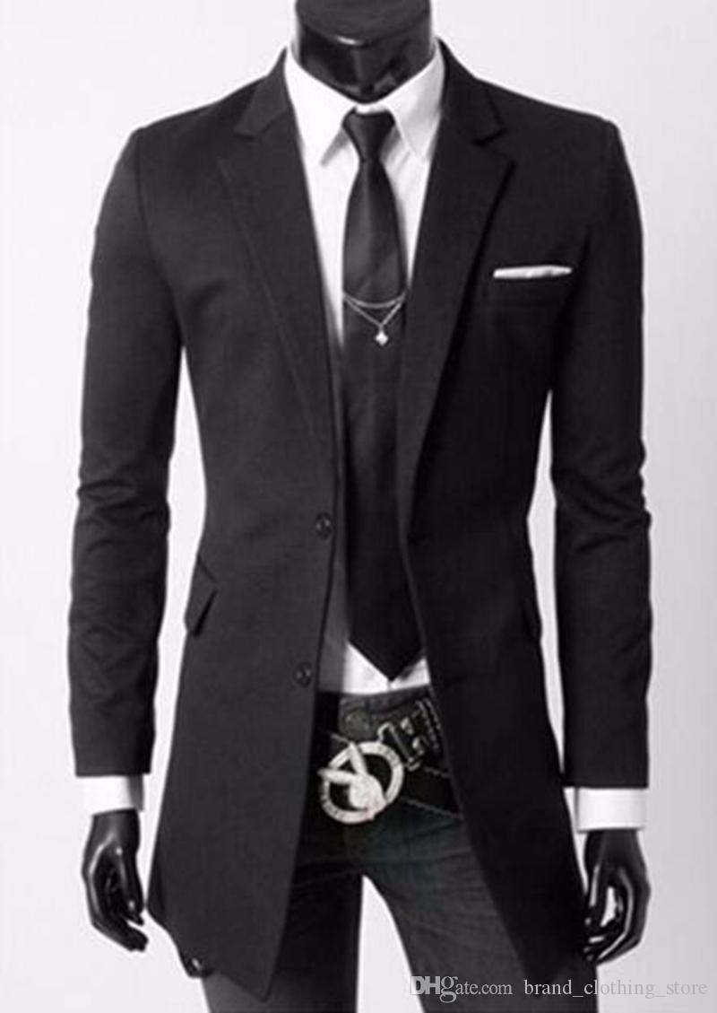 Männer in Europa und der Freizeit-Mode-Trend in Business-Englisch neue Boutique lange kleine Jacken in der Persönlichkeit / M-2XL