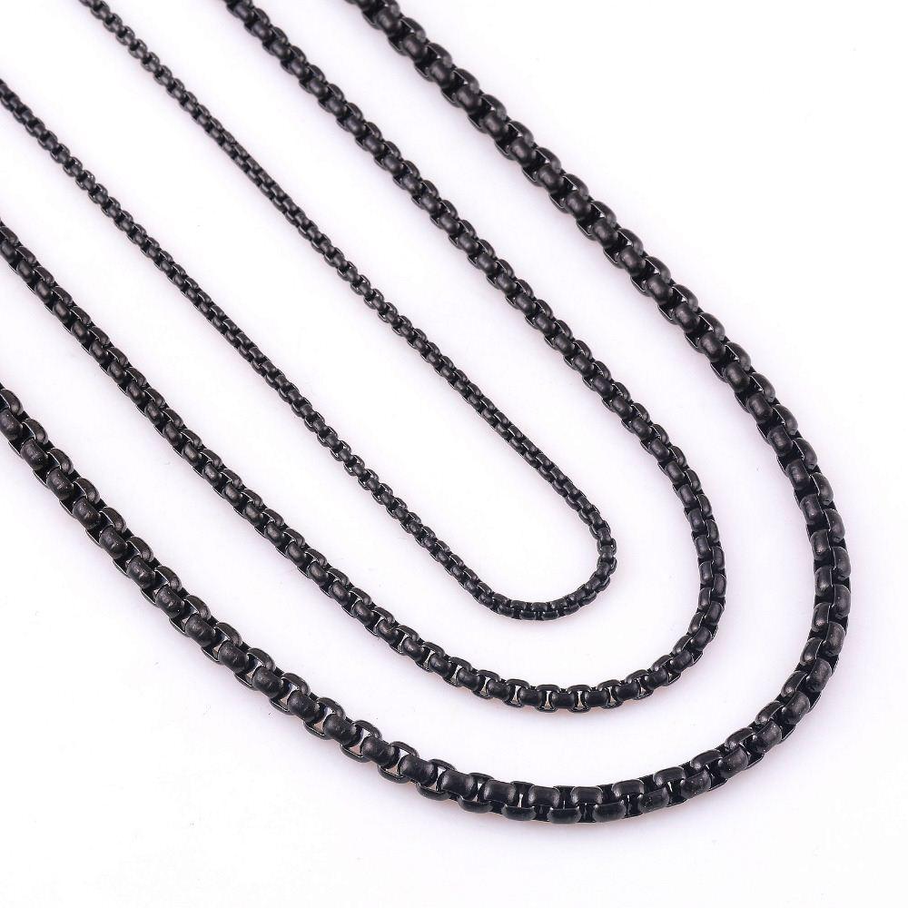 Настроить длина 2/3/4/мм Ширина из нержавеющей стали черный снаряженном состоянии кубинский цепи Ожерелье для мужчин и женщин водонепроницаемый ювелирные изделия оптом