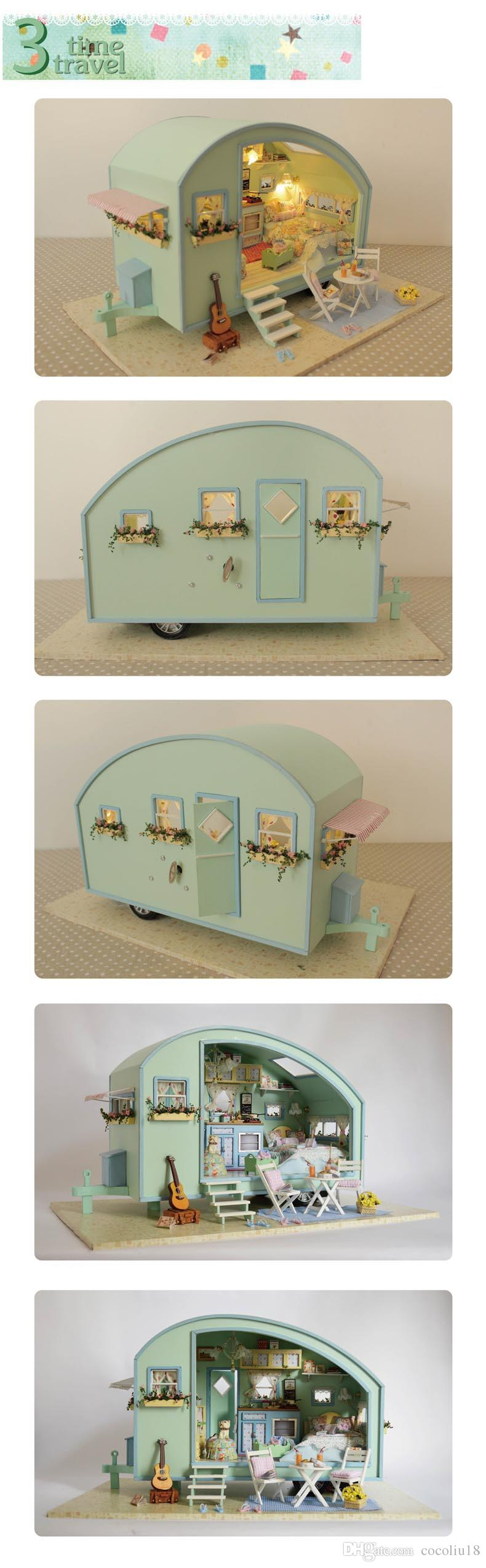 mini doll furniture. DIY Doll House Wooden Houses Miniature Dollhouse Furniture Kit Toys For Children Gift Time Travel Mini