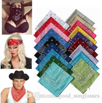 Neuheit Paisley Bandana Polyester Magic Anti-UV-Stirnband Hip Hop Multifunktions-Armband Paisley Headscarf 55 * 55cm CCA6636 300pcs