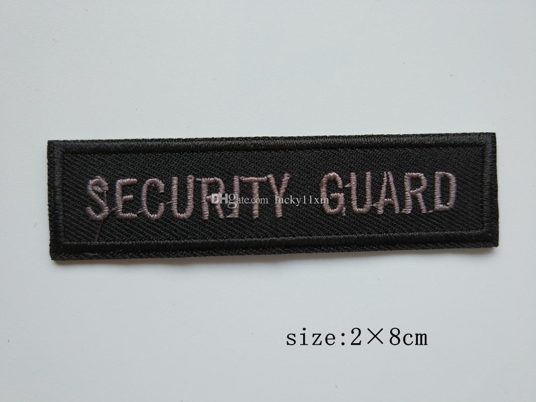 VINTAGE SECURITY GUARD SHOULDER Sicherheitsmanagement Abzeichen Eisen auf bestickt Patch Geschenk Shirt Tasche Hosen Mantel Weste Individualität