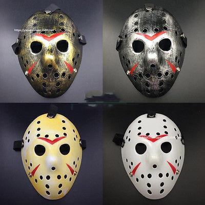 Toptan-Halloween Cosplay kostüm Gözenekli Maske Jason Voorhees 13. Cuma Korku Filmi Hokey Maskesi