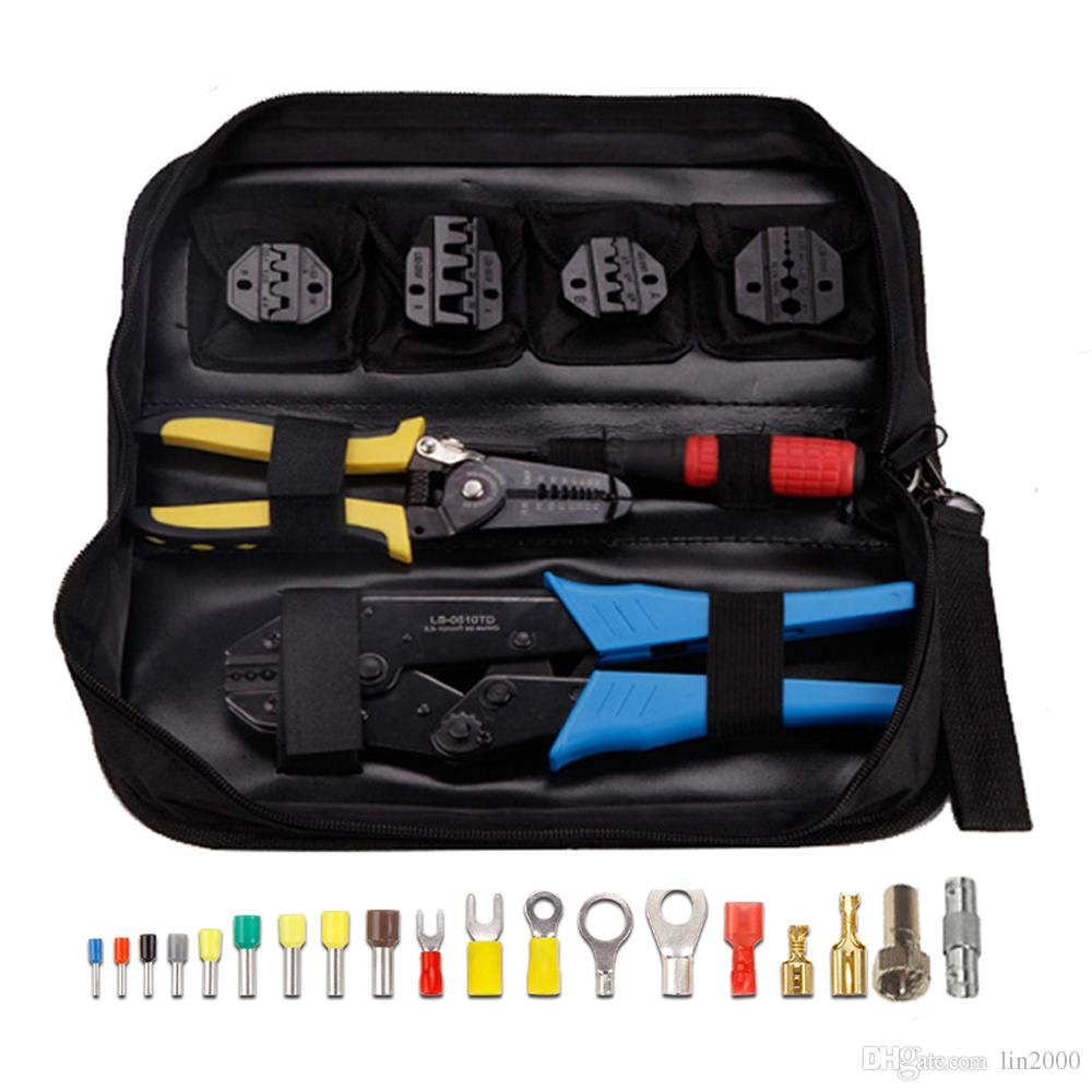 5 en 1 Set Tab Terminals RF Connecteur Pince à sertir Pince à sertir Outil Kit