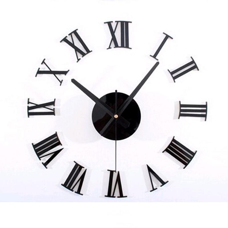 Atacado-2015 3d diy estilo acrílico café venda nova relógio de parede conjunto relógio relógios de quartzo agulha geométrica única face frete grátis
