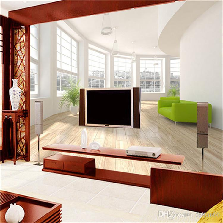 Large murals non-woven fabric sofa background wall paper 3 d TV wall painting space extend balcony sea view