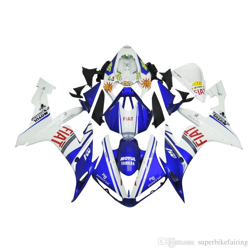 3 omaggi completi Carene complete per Yamaha YZF 1000 YZF R12004 2005 2006 iniezione plastica completa Kit carena completa bianco blu b12