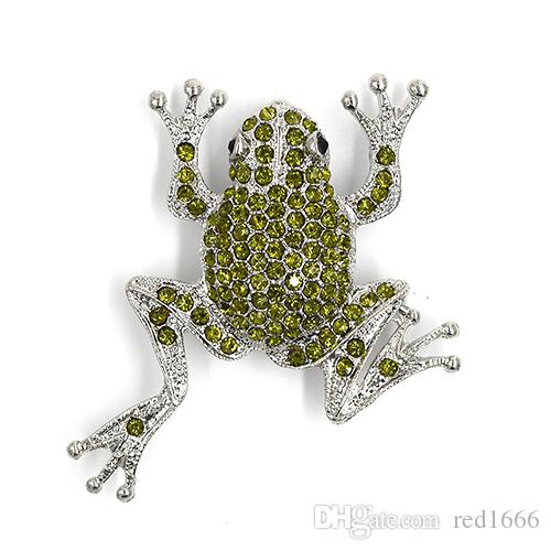 Wholesale Fashion brooch Rhinestone Frog Pin brooches Accessories C101239