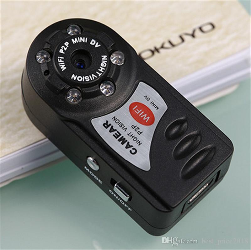 2018 Hot Q7 Mini Gravador de Vídeo Gravador de Vídeo Gravador de Vídeo Gravador de Vídeo Sem Fio Wi-fi DVR Câmera de Visão Noturna Infravermelha Detecção de Movimento Microfone Embutido