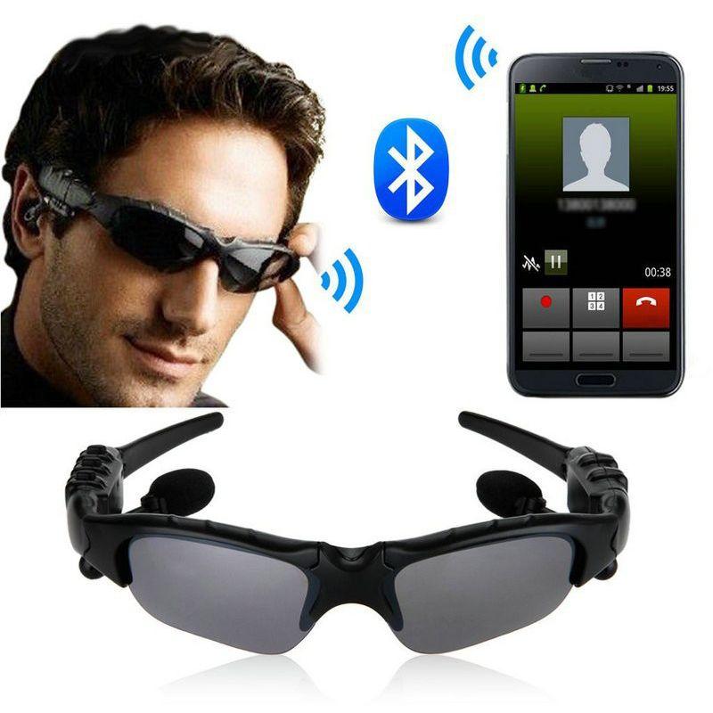 Esporte sem fio bluetooth 4.0 óculos de sol fone de ouvido fone de ouvido handfree para iphone + mp3 equitação olhos óculos para samsung htc