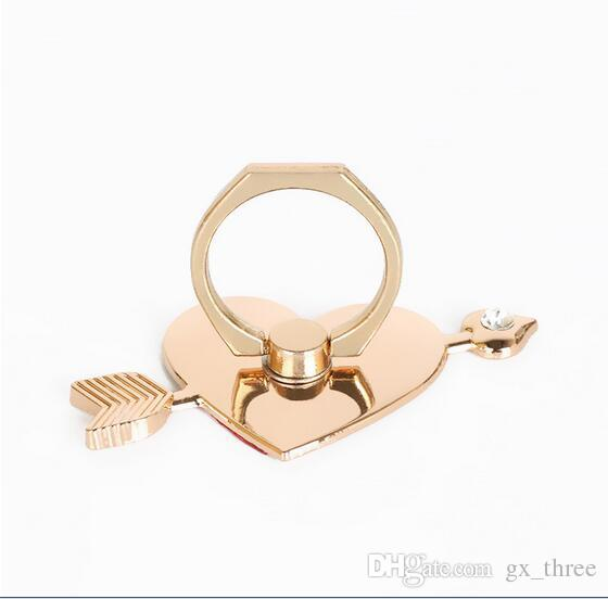 Altın renk Yaratıcı cep telefonu halka stent cep telefonu evrensel halka toka stentler ipad macunu tipi metal stentler