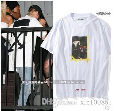 b40a1c51fc OFF White C/o Virgil Abloh New Religion Caravaggio Distressed Short Sleeve  back seam T-Shirt Kanye tshirt OFF-White top tee