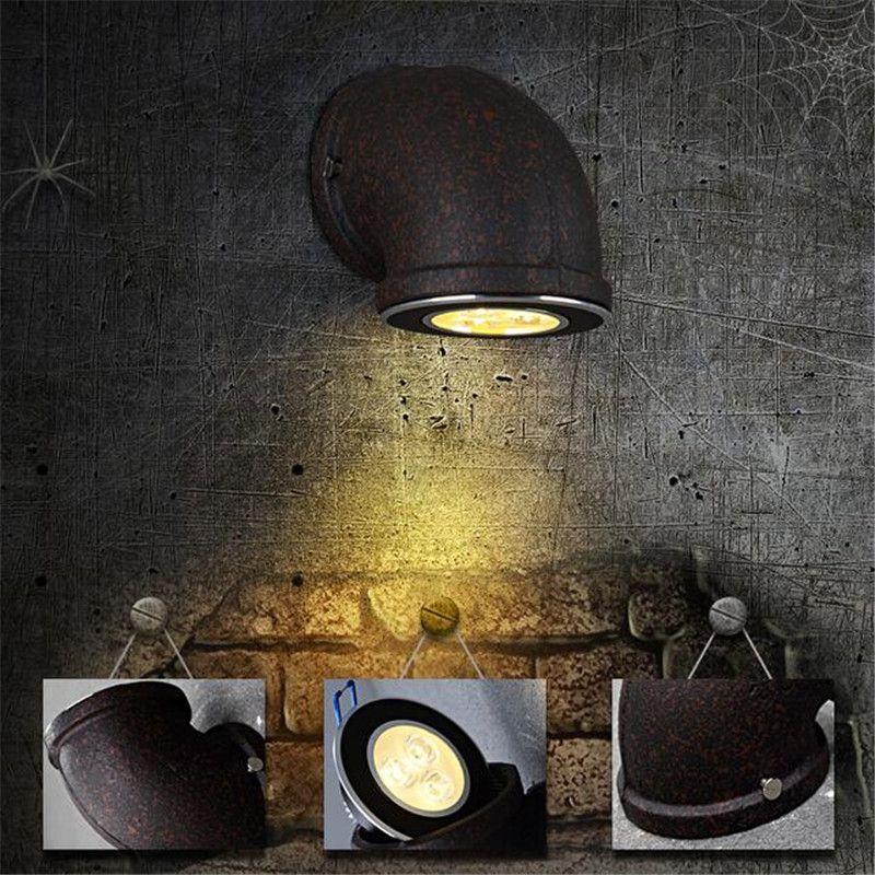 Großhandel Weinlese Loft Retro Rohr Führte Wand Lampe Industrielle