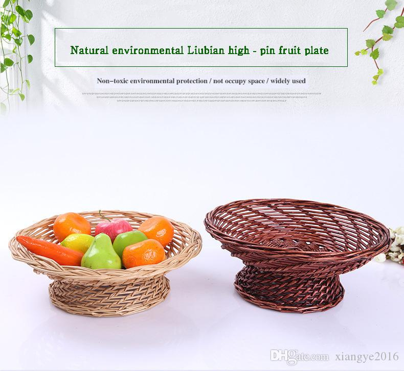 Fruits Vegetables Basket Gift Ng Home Furnishing Bamboo Weaving