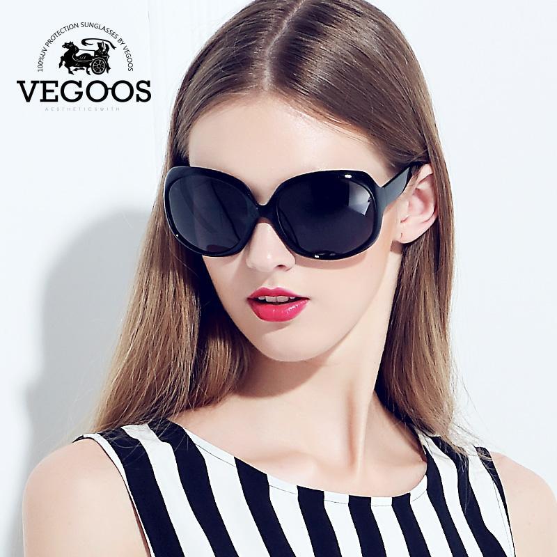 fc77f5159e957 Compre Atacado VEGOOS Designer De Marca De Luxo Polarizada Óculos De Sol  Das Mulheres Condução Óculos De Sol Polaroid Moda Big Frame Frete Grátis  Novo ...