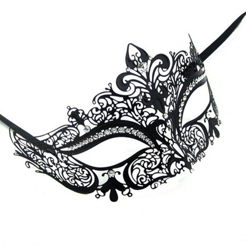 Black Queen Metal Couple Lover Masquerade Mask Party Mask Men /& Women Mask!