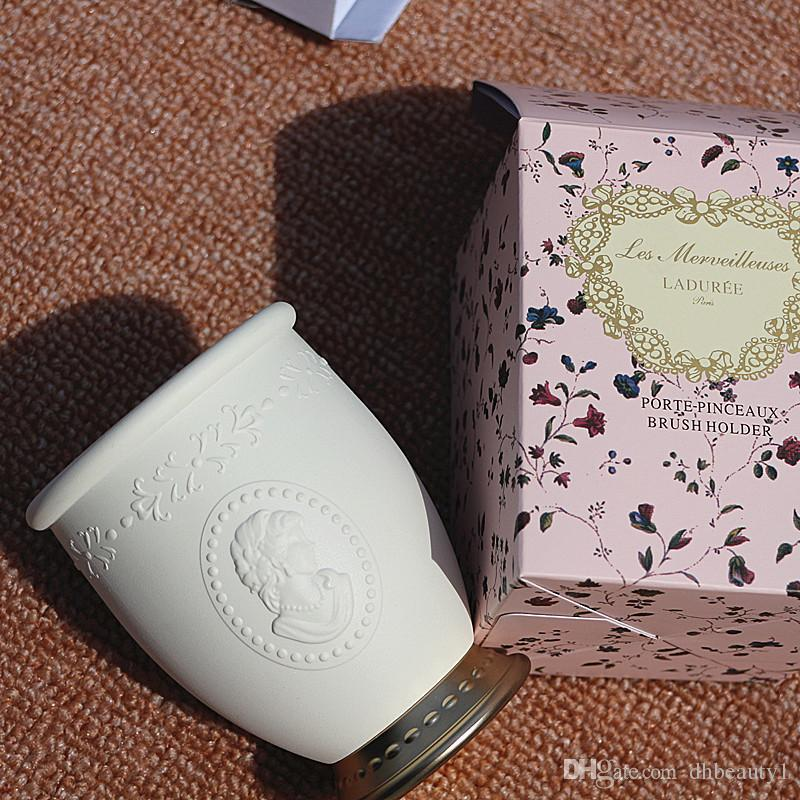 LADUREE Les Merveilleuses Marka Makyaj Fırçalar tutucu Depolama kozmetik makyaj fırça kılıfı Kabartma Japonya marka