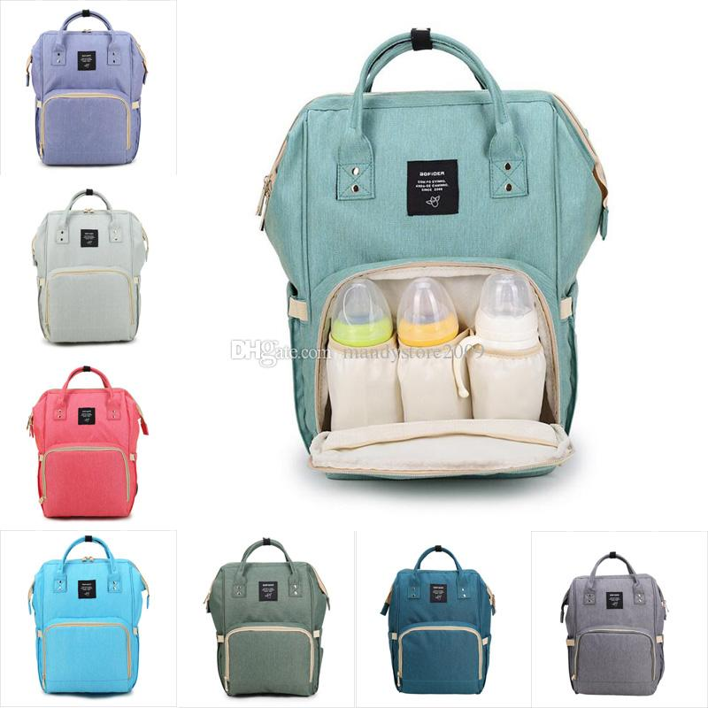 Backpack Bags Mommy Nappies Desinger Backpack Fashion Mother Maternity Free Nursing Bags Backpacks Travel Outdoor Organizer Diaper Ship Rtrq