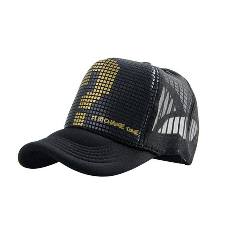 Atacado-Alta Qualidade Verão Homens Mulheres Mesh Hat Trucker Visor ajustável Snapback Baseball Cap