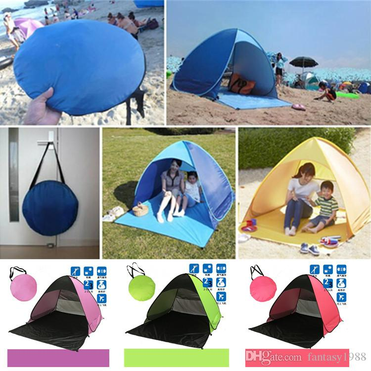 Quick Automatic Opening Hiking Camping Tents Outdoors Shelters 50+ UV Protection Tent for Beach Travel Lawn Home 10 PCS DHL/Fedex Shipping