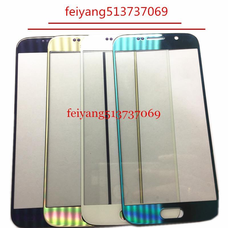 10 PZ TOP Un pannello Touch Screen di qualità Sostituzioni Per Samsung Galaxy s6 g920 g920f Touch Screen Frontale Esterno Lente In Vetro