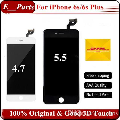 (100% original) No China Copia LCD original + Retroiluminación original + Pantalla LCD IC original Digitalizador de pantalla táctil para iPhone 6S 6S Plus