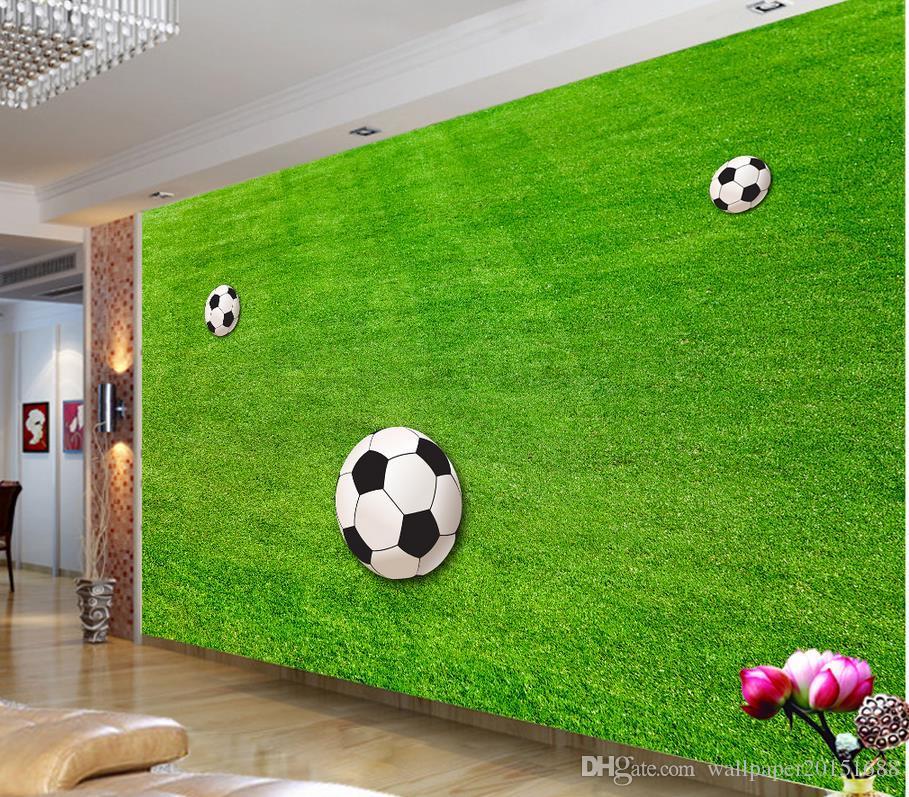 Campo de futebol bonito fundo parede mural 3d papel de parede 3d papéis de parede para o pano de fundo tv