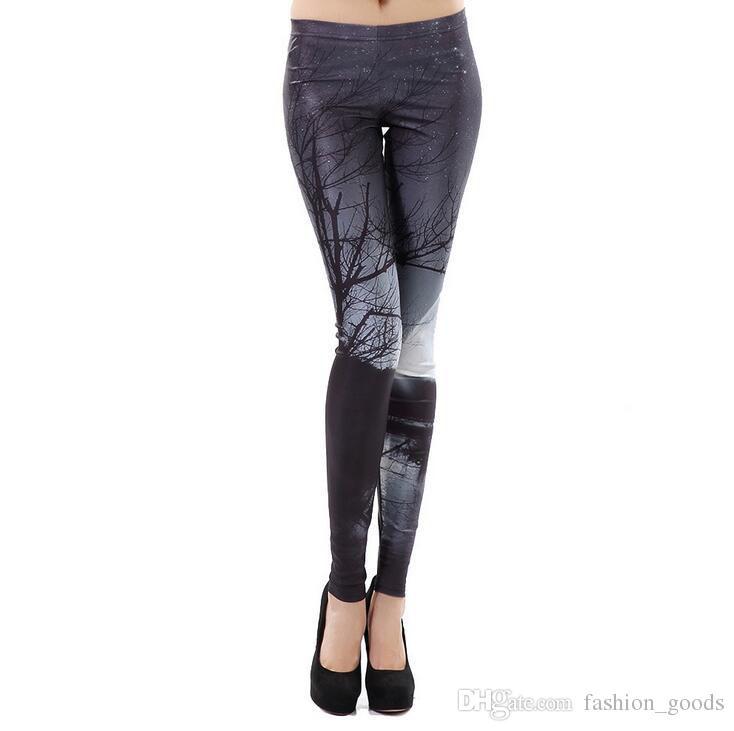 Free shipping High-end digital print design Leggings trousers pants fashion ladies LW004 Women's Leggings
