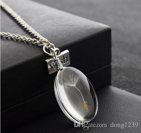 Commerce extérieur vente de bijoux Créatif bricolage bricolage elliptique paillettes tuiles de verre souhaitent collier