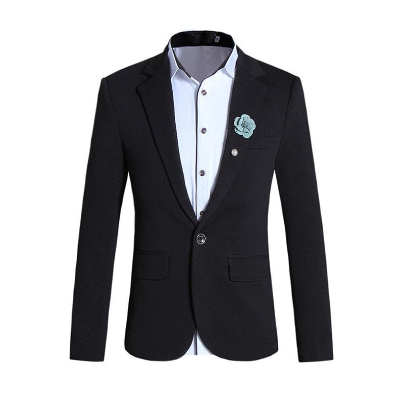 2017 Men White Blazer Slim Fit 2017 Fashion Mens Black Casual ...
