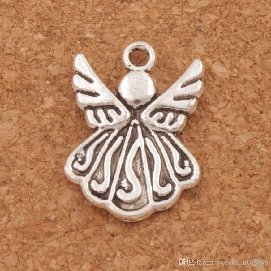 Flyga Angel Wing Charms Pendants 120pcs / parti 21.5x15.4mm Antika Silver Smycken DIY L216 Smycken Findings Komponenter