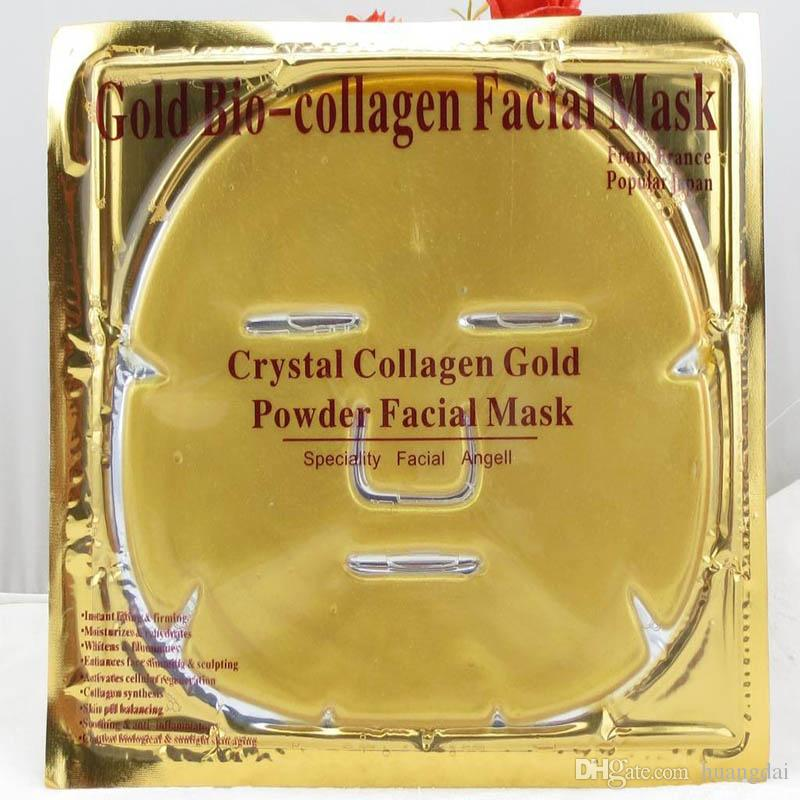 Gold Bio-Collagen Facial Mask Face Mask Crystal Gold Powder Collagen Facial Mask Moisturizing Anti-aging
