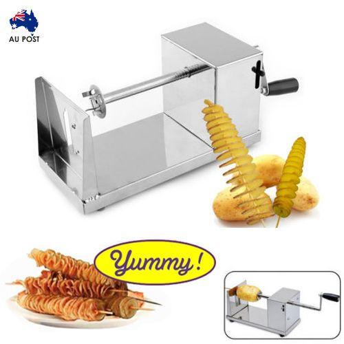 Potato Twister Tornado Slicer Automatic Cutter Machine Spiral Home Kitchen AU