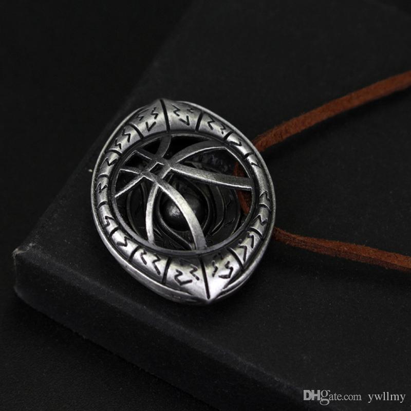Xcoser Doctor Strange Pendant Necklace Vintage Antique/Brown/Gold ...