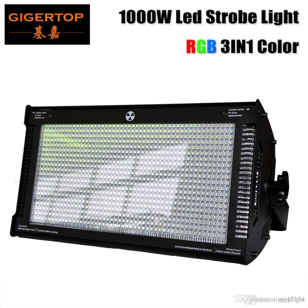 cor TP-S1000RGB 1000W RGB Stage Led Strobe Light Tri mistura de alta potência Clube Flash Light DMX512 Controle de 3 pinos / 5 pinos soquete