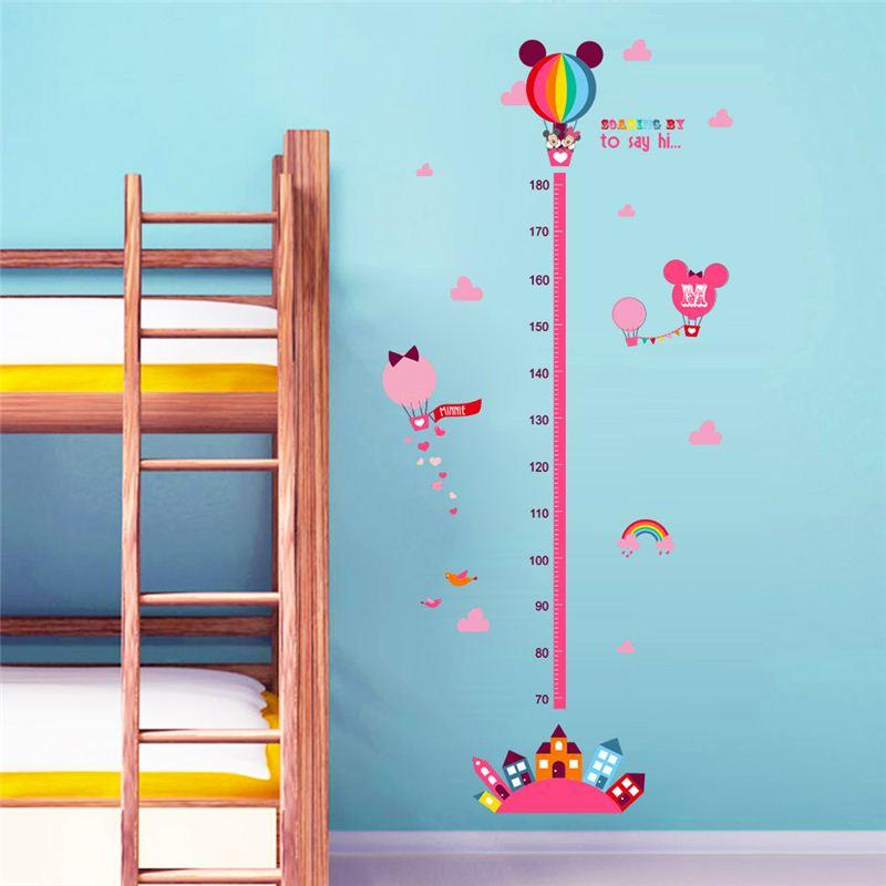 Cartoon Minnie Mouse Growth Chart Wall Stickers Decals Art Living