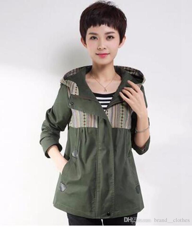 여성 qiu 동 한 판 비즈니스 영어 새로운 패션 부티크 성격 짧은 단락 트렌치 코트 / M - 5xl