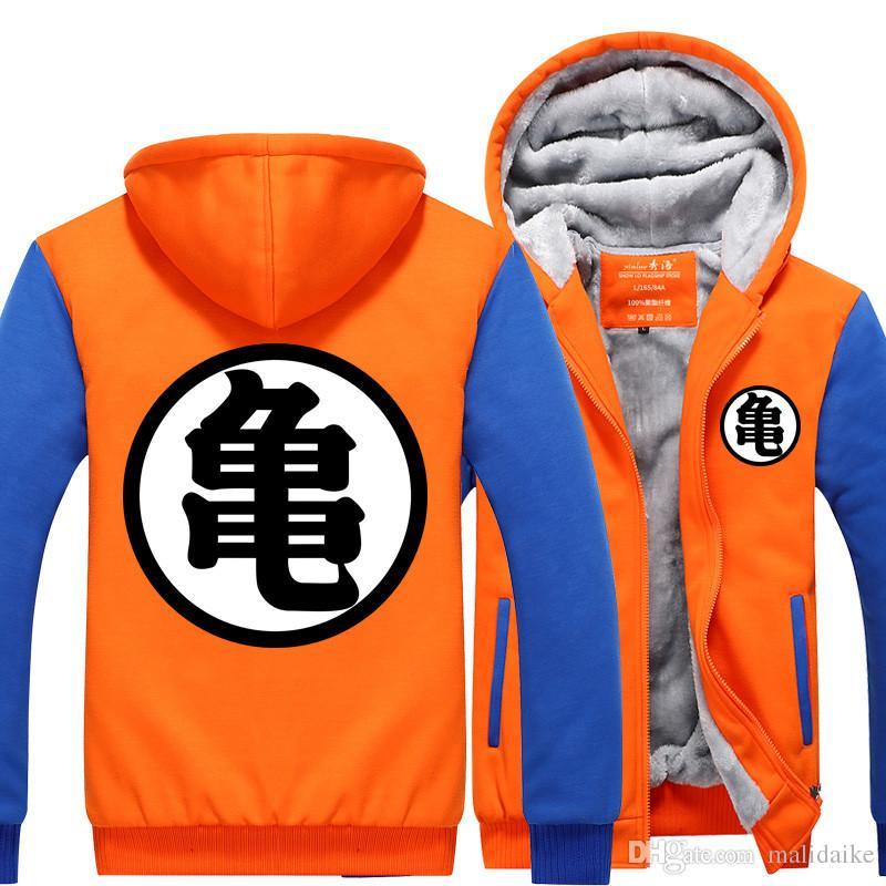 Regalo costume cosplay Malidaike Sette Dragon Ball Sun Wukong studenti con cappuccio ispessimento giacche invernali Coat