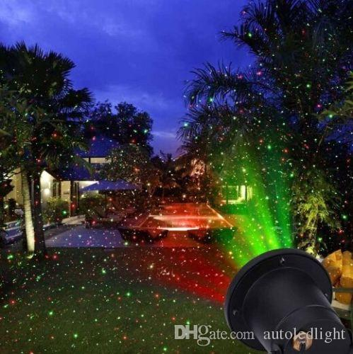 Outdoor LED Snowflake Landscape Laser Projector Lamp Xmas Garden Sky Star laser projector lawn lamps Light