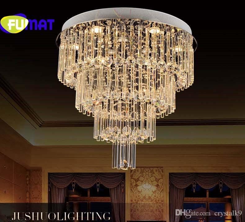 Großhandel Moderne Runde Kristall Deckenleuchte E14 Lampen Kristall Treppen  Deckenleuchte Für Esszimmer Lüster Kristall Lampe Von Crystalk9, $288.45 ...