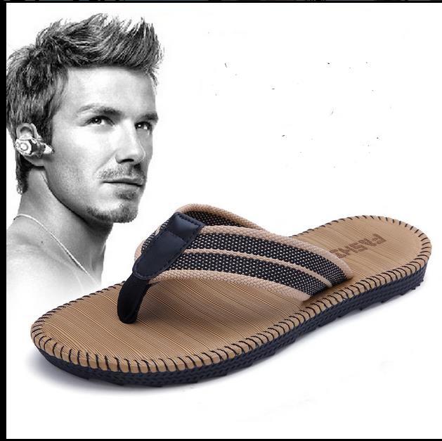 Taglia US: 6.5-10 Ciabatte da uomo Split Leather Fashion Vintage Tacchi piatti Solid Beach Shoes For Men Scarpe da uomo traspiranti