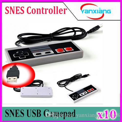 10pcs Best selling USB Controller Game Gamerpad For NES Windows PC for MAC Computer Game Controller Gamepad YX-NES-01