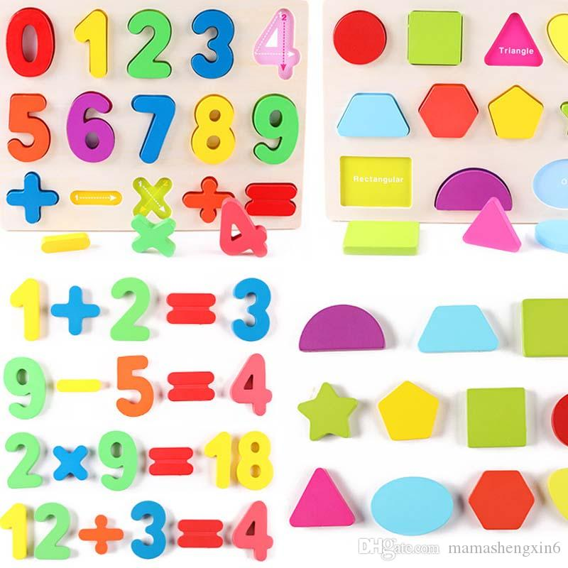Baby digital alphabet puzzle with figures of wooden blocks educational toys for children new early childhood education gifts