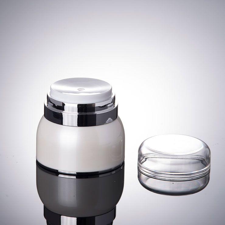 Vaso per pompa Airless 30g 50g - Contenitore per cosmetici ricaricabile Viaggio sterile - Dispenser per vuoto Airless e creme